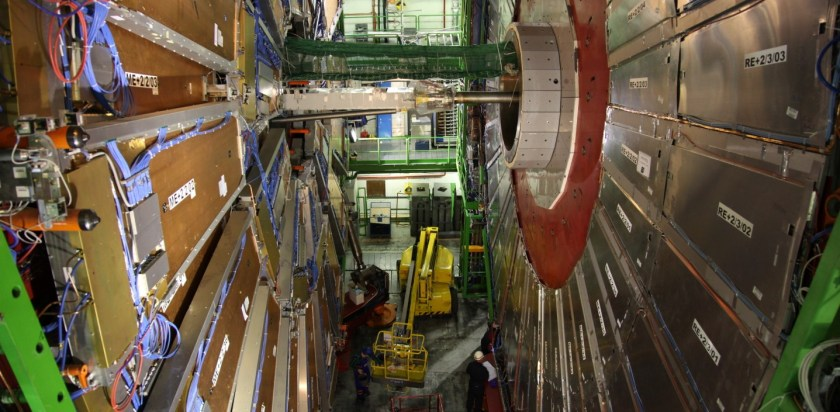 Physicists working on the CMS Detector