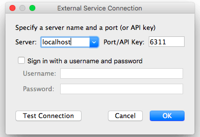 Tableau 10 External Service Connection