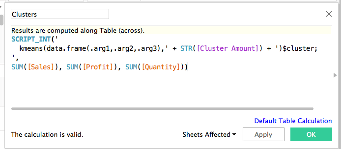 Calculated Field in Tableau 10