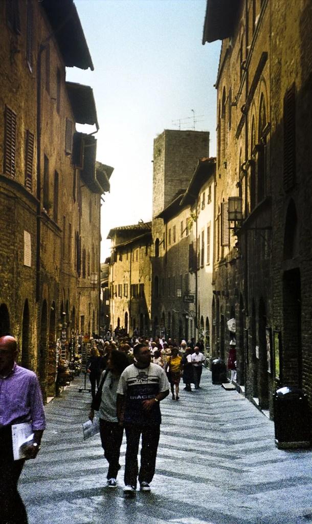 Streets of Siena's medieval center