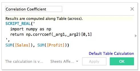 Python-Skript in Tableau