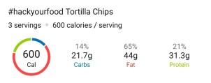 Nutrition - Tortilla Chip Nachos