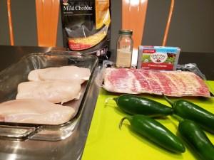 Ingredients - Jalapeno Popper Chicken