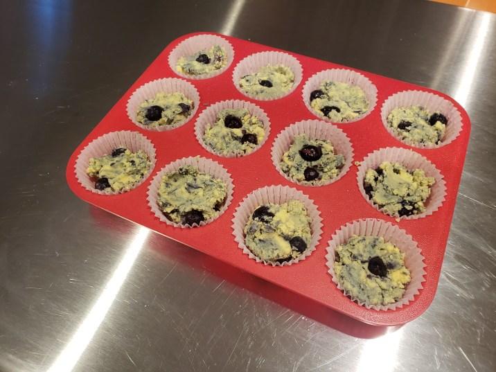 4 Coconut Flour Blueberry Muffins
