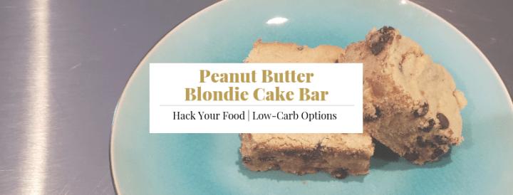 Peanut Butter Blondie Cake Bars