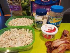 Ingredients - Chicken Bacon Ranch Casserole