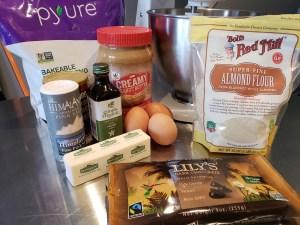 Ingredients - Peanut Butter Blondie Cake Bars