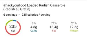 Nutrition - Loaded Radish Casserole - Radish au Gratin