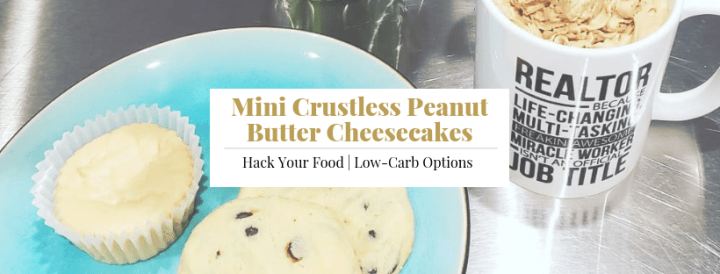 Mini Crustless Peanut Butter Cheesecakes
