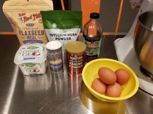 Ingredients - Flaxseed Keto Bread Rolls