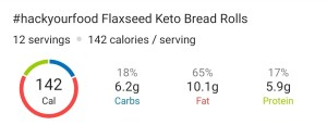 Nutrition - Flaxseed Keto Bread Rolls