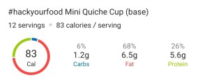 Nutrition - Mini Quiche Cups
