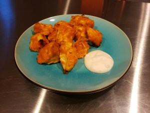 Plated - Breaded Boneless Buffalo Chicken Bites