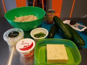Ingredients - Chicken Zucchini Enchiladas
