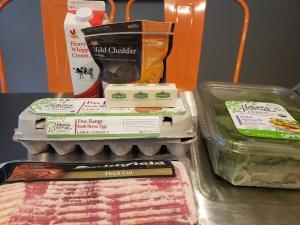 Ingredients - Bacon & Spinach Frittata - Breakfast Casserole