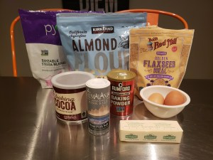 Ingredients - Chocolate Fudge Flax Muffins