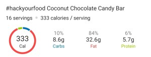 Nutrition - Keto Coconut Chocolate Candy Bar