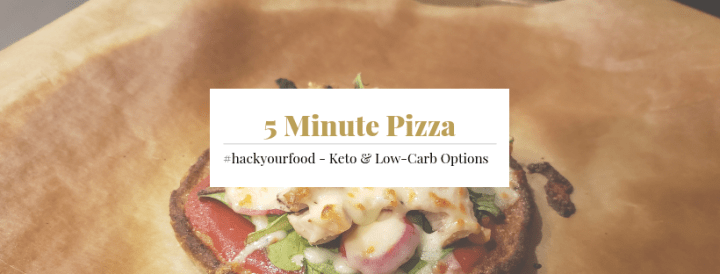 Keto 5 Minute Pizza
