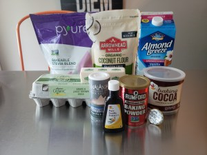 Ingredients - Keto Mocha Chocolate Cupcakes
