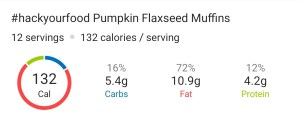 Nutrition Facts - Pumpkin Flaxseed Muffins