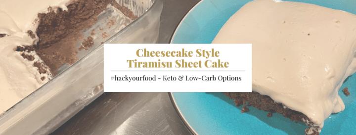 Keto Cheesecake Style Tiramisu Sheet Cake