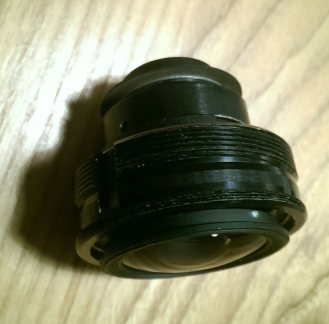 Central barrel of a lens taken out to lens whack