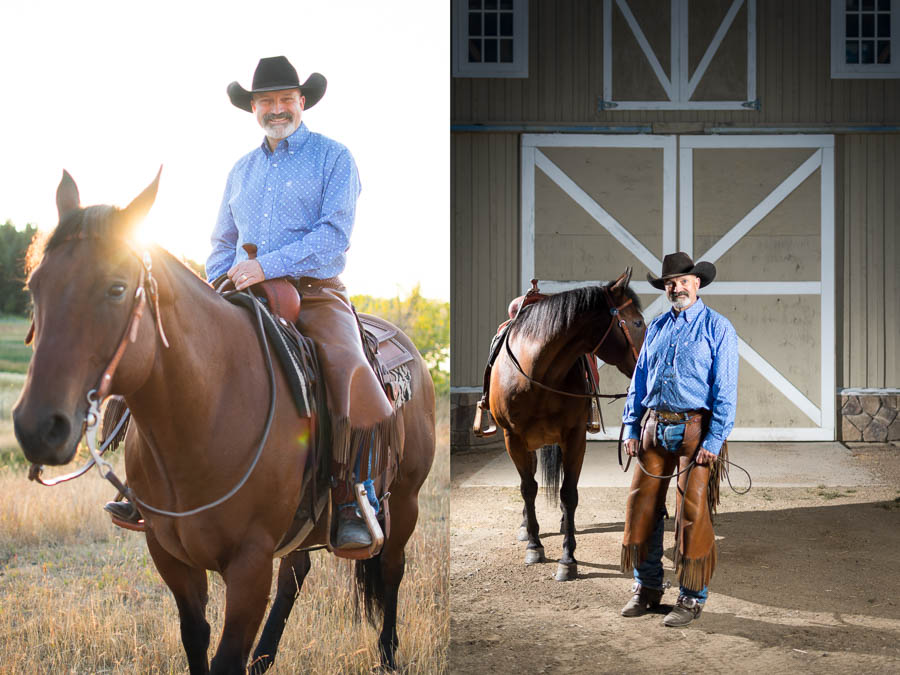 A Kamloops rancher and his horse.