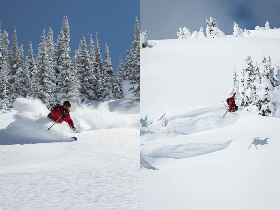 Skiing at Sun Peaks Resort.
