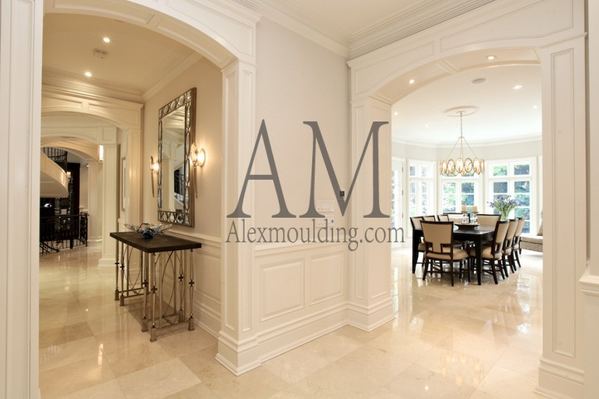 Custom Millwork  Arches Panels  Casing Openings in Toronto