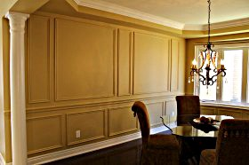 chair rail profiles victorian accent wall appliques trim picture frames wainscoting installation toronto