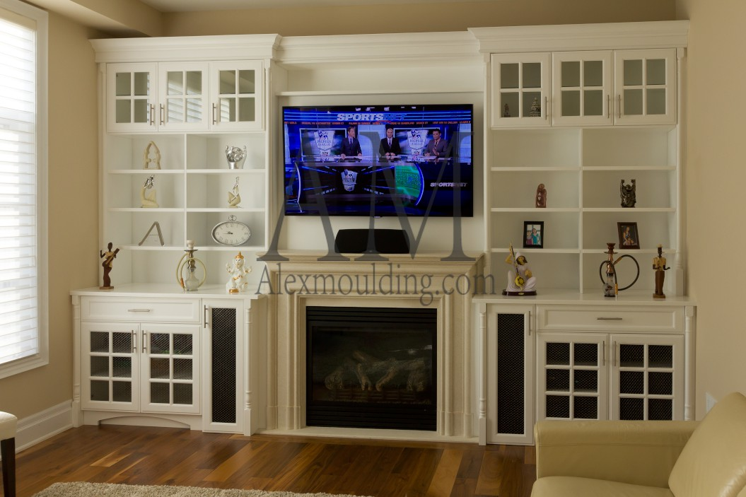 WALL UNITS  Custom Millwork  Wainscot Paneling  Coffered Waffle Ceiling  Archways  Kitchen
