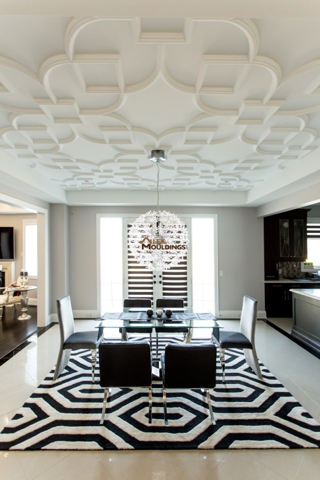 Detailed Ceiling design idea inside coffer