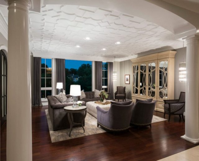 Align Potlights with ceiling trim decor