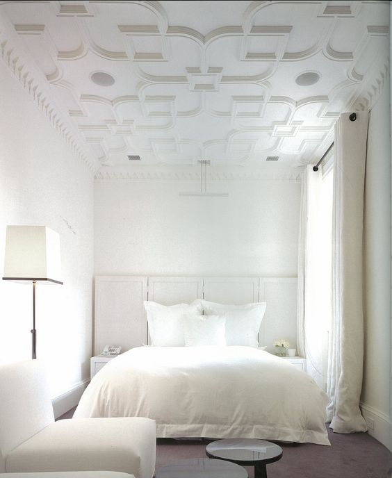 Pure White walls and ceiling mouldings