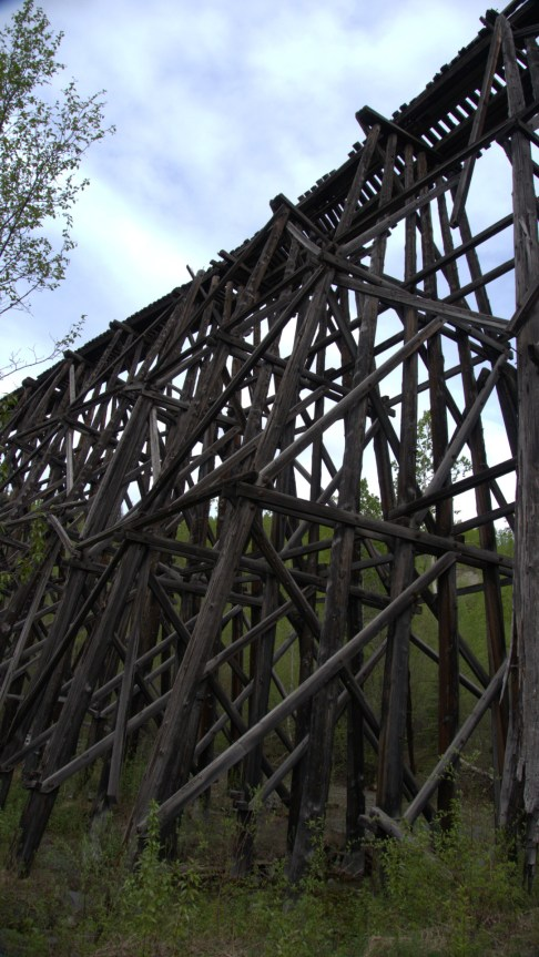 The Gilahina Trestle was 880 feet long and built in only 8 days!