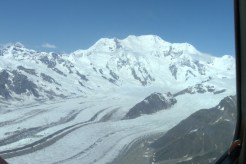 Mt. Blackburn, Packsaddle Island, and Gates and Kennicott Glacier