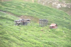 The angling station for Bonanza's aerial tramway.