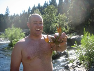 7/30/11: Crawdads are food for big brown trout