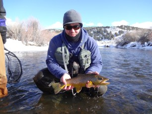12/29/12: Tim and a burly brown trout