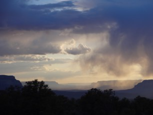 Rainfall to the west from below Bridger's Knoll