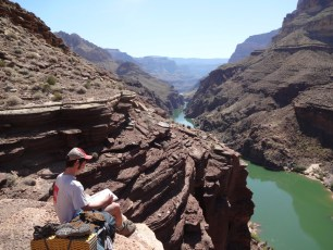 First overlook of the big Colorado River