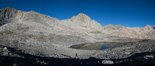 Pants Pass in the morning - the route in RJ Secor's High Sierra guidebooks starts from this tarn.