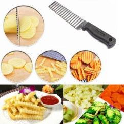 Consumers Kitchen And Bath Reviews Mats Commercial Potato Chip French Fries Wavy Cutter Slicer Vegetable ...