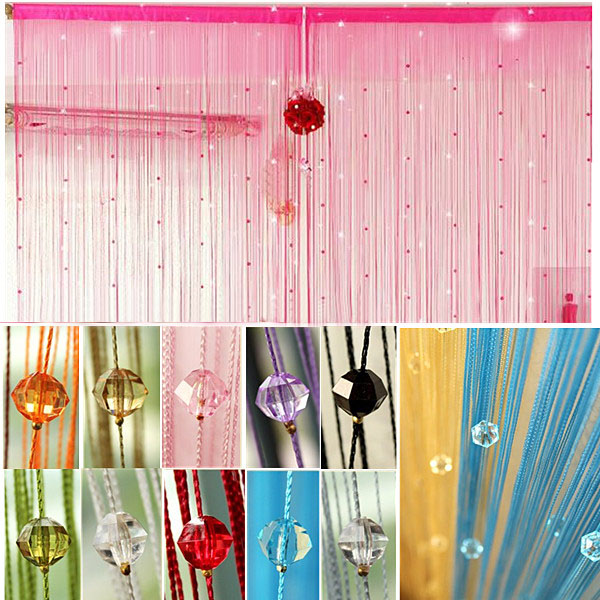 Imitated Crystals Beads String Curtain Window DIY Wall