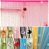 Imitated Crystals Beads String Curtain Window DIY Wall ...