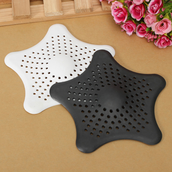 Rubber Starfish Hair Strainer Shower Drain Cover Hairs