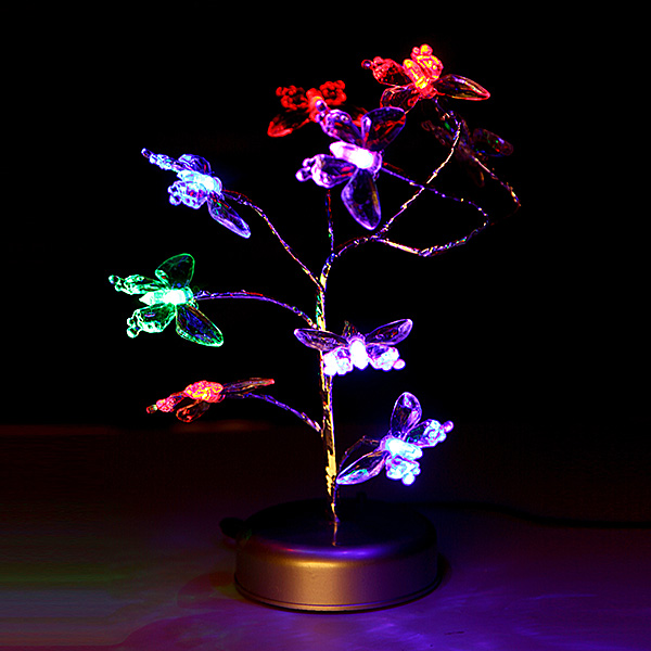 Colorful Butterfly Led Night Light Home Decoration Diy