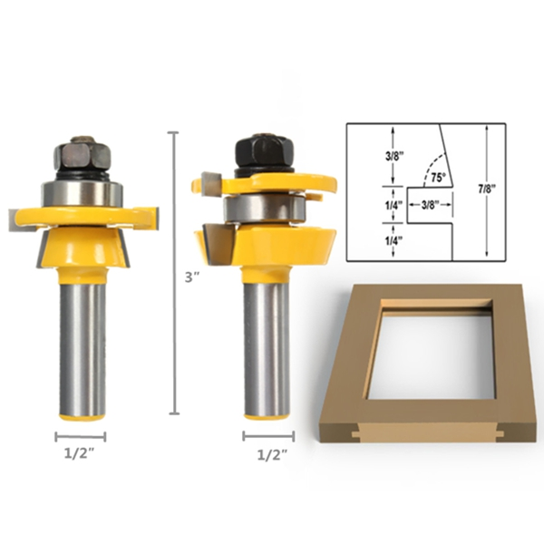 Shaker Bevel Rail And Stile Glue Joint Router Bit For