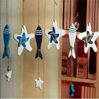 Wooden Fish Starfish Hanging Ornaments Wall Door Decor ...