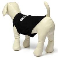 Black Cool Dog Vest Pet Cat Puppy Summer Clothes T-Shirt ...